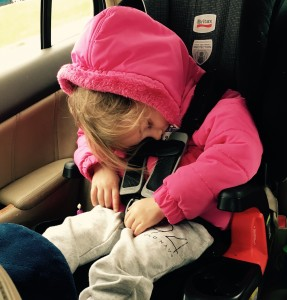 sleeping child, child sleeping in car seat, car seat nap, parenting, kids, children, toddlers