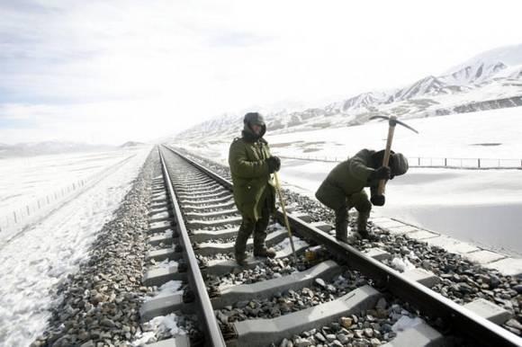 Railway construction China 9 Railway construction in China
