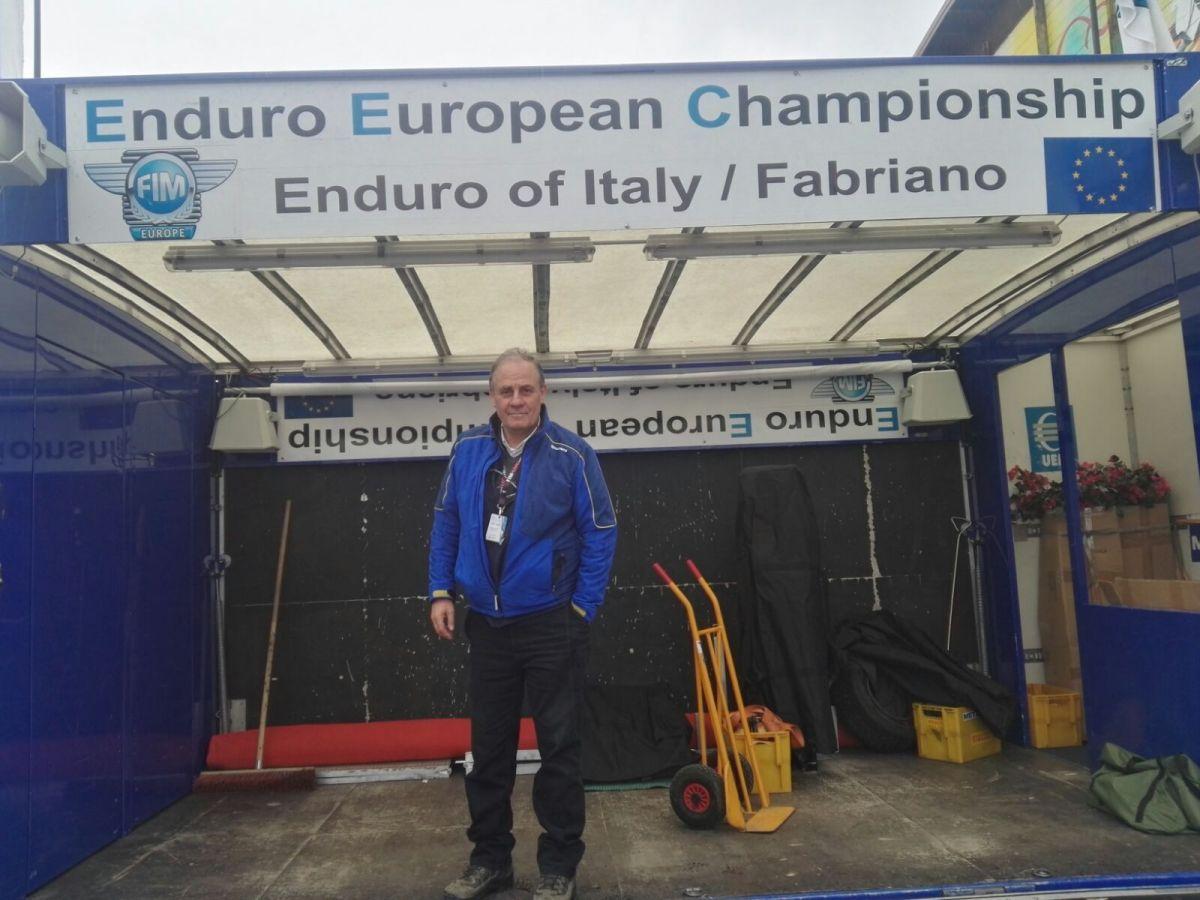 Campionato Europeo Enduro 2018 Fabriano Direttore di Gara Marcello Romoli