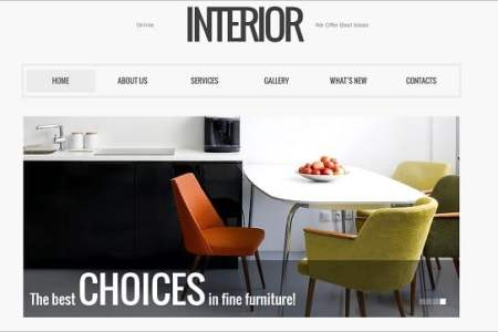 interior design website template 397097