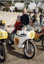 Just before the start of my Dads race in the Isle of Man age 12