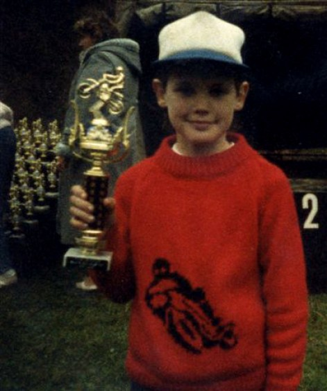 Once I started winning trophies I was hooked on racing
