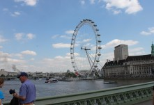 To my left is the awesome Millennium Wheel or London eye
