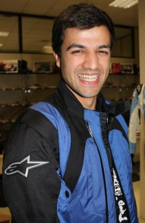 All smiles - Happy Birthday! Thank-you Alpinestars!!