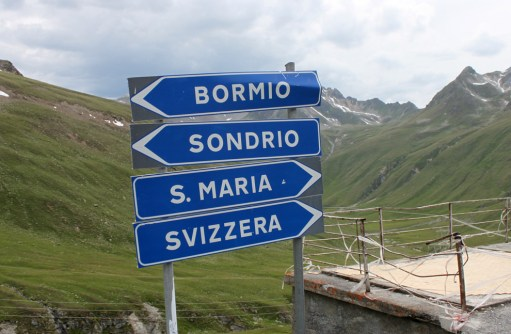 The boarder of Switzerland and Italy up the Stevio Pass