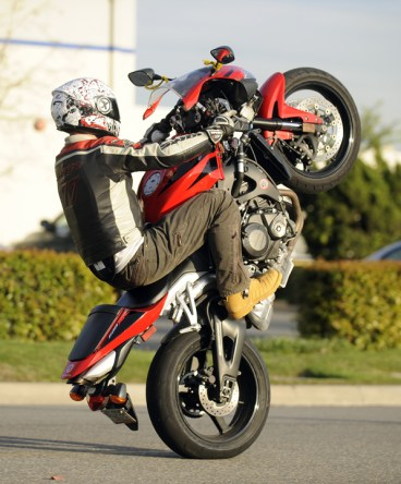 Going for the 12 O'Clock wheelie on my sweet CBR600RR!
