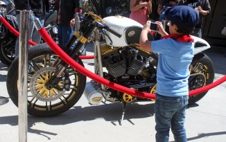 You are never to young to start liking motorbikes!