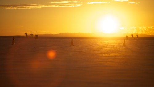 Bonneville sun rises are amazing