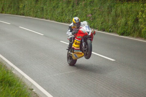 Big wheelie at 150mph!