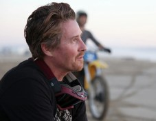Roland Sands takes a break during an epic day of riding dirt bikes