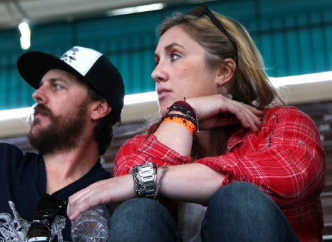 Cameron from RSD and his better half ;) BTW, she looked awesome on the Scrambler....