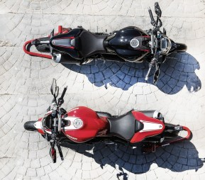 Red and Black Ducati Monster 1200R