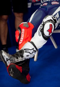 Lorenzo's Alpinestars boots