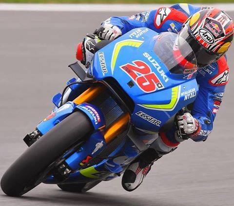 Team Suzuki Ecstar's Maverick Vinales' P1 win at MotoGP Silverstone