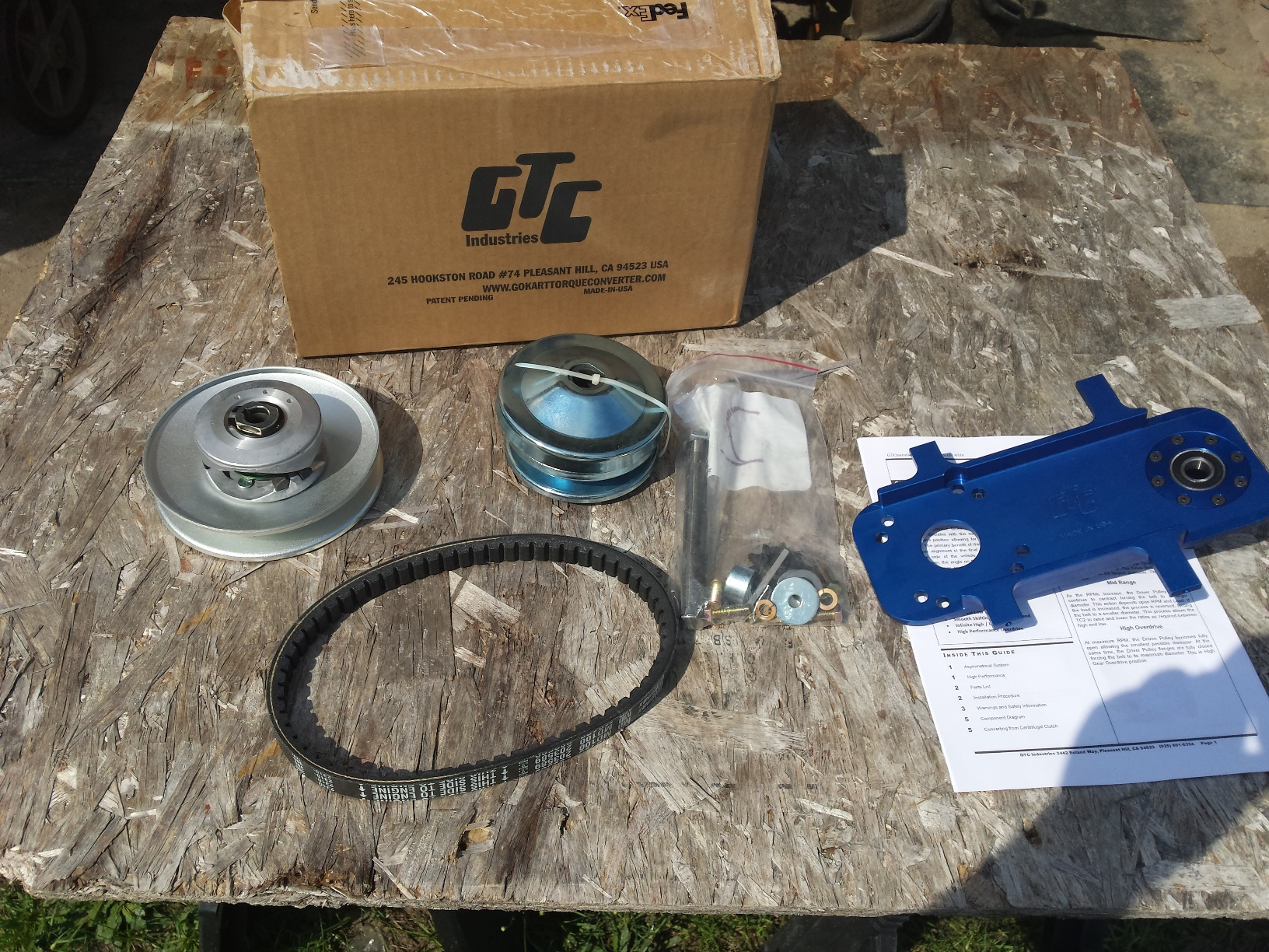 Mini Bike Clutch Installation : The gtc torque converter for minibikes go karts