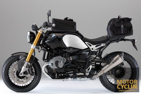 photos of BMW R nineT touring setup