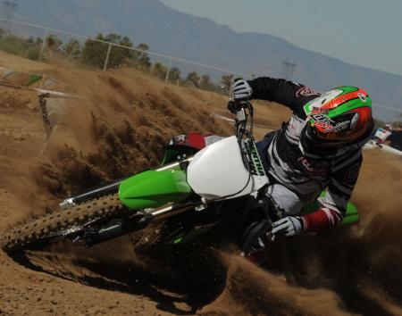 Mega Kawasaki power in action.