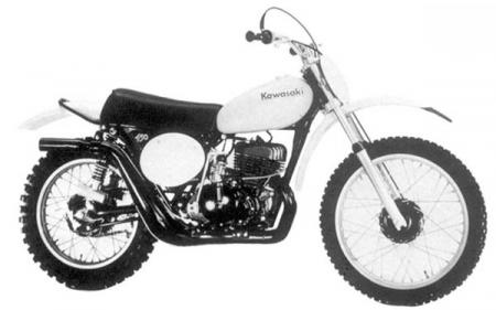 1974 KX450 Kawasaki. This was the first true open-class MX bike that Kawasaki was serious about. The Bighorn not withstanding, Kawasaki tried to make a true race replica of what bad Brad Lackey was riding at the time, and succeeded somewhat with the big KX. Handling issues, along with a soft powerband, were the brunt of many acid-penned editors, and the bike was deemed somewhat a failure when pitted against the Maicos and Husqvarnas of the time. The hammerhead shocks didn&amp;rsquo;t help much. Vibration was a big no-no, too. Kawasaki claimed 38 horsepower at 6500 rpm.