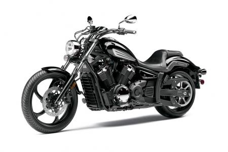 The Raven Stryker follows the lead of Harley's successful Dark Custom line by its lack of chrome.