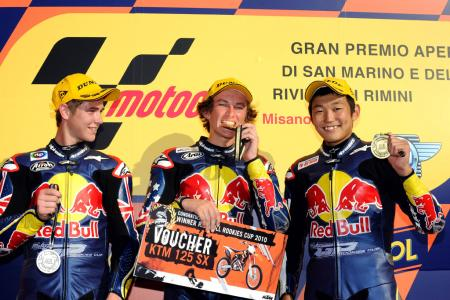 Jake Gagne became the second American to win the Red Bull MotoGP Rookies Cup. Kentucky's JD Beach won the Cup in 2008.