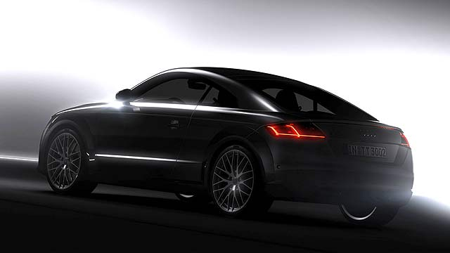 Audi has released the first official shot of the production-ready new