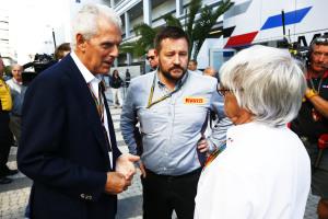 Marco Tronchetti Provera  Paul Hembery Bernie Ecclestone