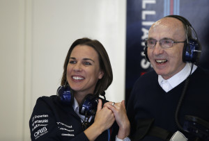 Red Bull Ring, Spielberg, Austria.Saturday 21 June 2014.Claire Williams, Deputy Team Principal, Williams F1, with Sir Frank Williams, Team Principal, Williams F1.World Copyright: Glenn Dunbar/LAT Photographic.ref: Digital Image _89P6501