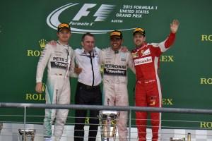 GP USA F1/2015 podio