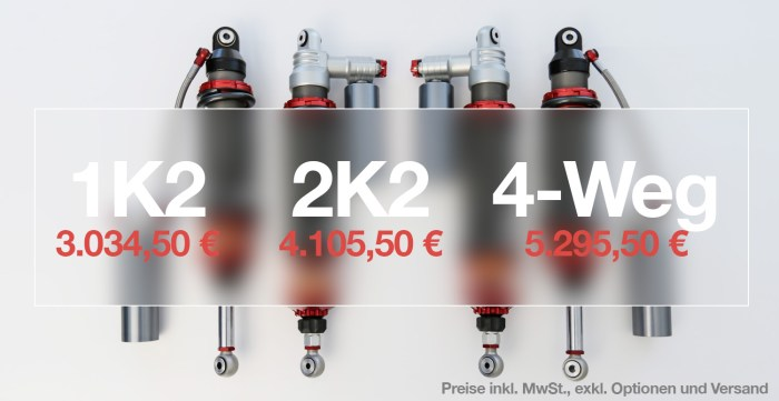 KTM X-Bow INTRAX Fahrwerk Preise