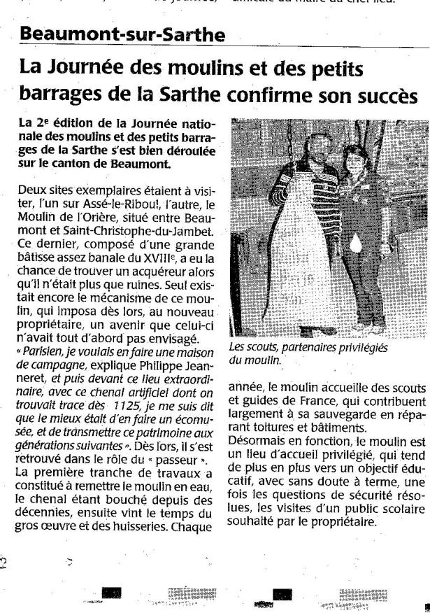 Article du Maine libre, Juin 2010