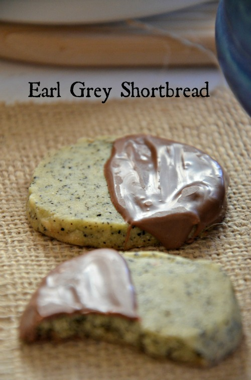 Paleo Earl Grey Shortbread Cookies