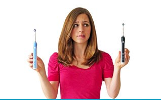 Choosing a new electric toothbrush.