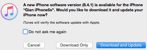 iOS 8.4.1 Update