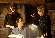 Alice Englert (ROSA), Alessandro Nivola (ROLAND) and Sally Potter (DIRECTOR).