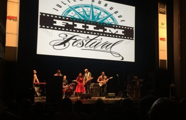 L.A. Psychedelic pop rock group Dengue Fever entertains during the awards ceremony web