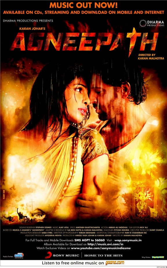Agneepath Movie Songs And Lyrics 2012