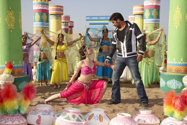 Ajay Devgn and Tamannaah shooting For Song Tathaiya Tathaiya from Himmatwala