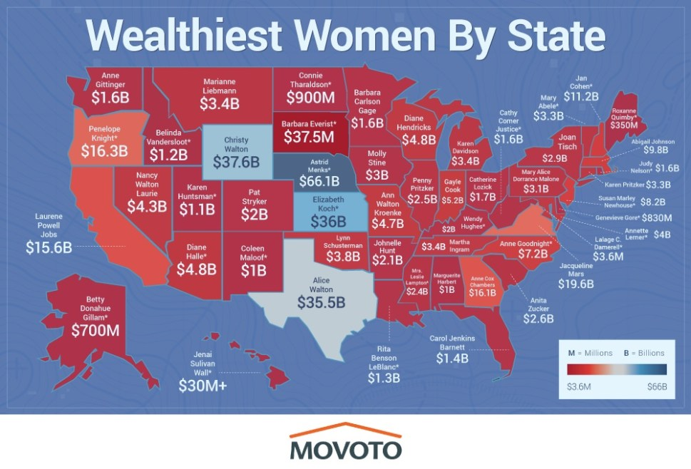 Richest Women by State