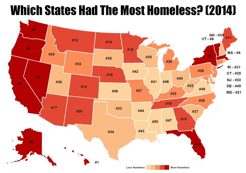 This Interactive Map Shows How Each State Stacks Up In Terms Of Homelessness