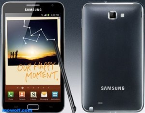 Samsung Galaxy Note 300x234 اسعار هواتف سامسونج وسامسونج جالكسي تاب وجالكسي نوت لشهر مارس للعام 2012