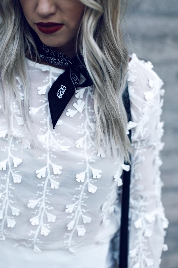 custom embroidered bandana oli rose designs Christine Bennett