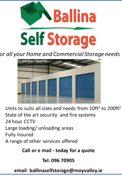 self storage Ballina - Moy Valley Resources