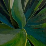 Oil painting of Cactus plant magnify , by Manuel Palacio