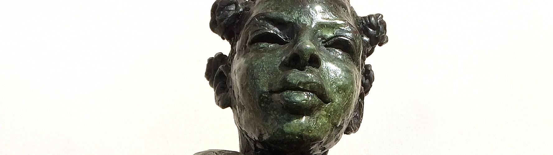 Ella Bronze female sculpture bust of black woman by artist Manuel Palacio