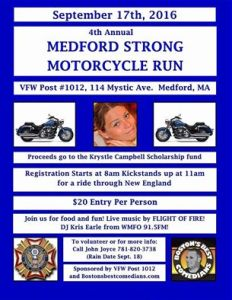 Sept 17th – 4th Annual Medford Strong Motorcycle Run!