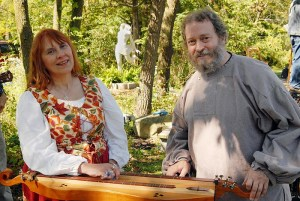 """The musical duo """"February Sky,"""" Susan Urban and Phil Cooper."""