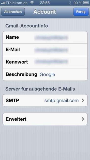 G-Mail iOS Settings