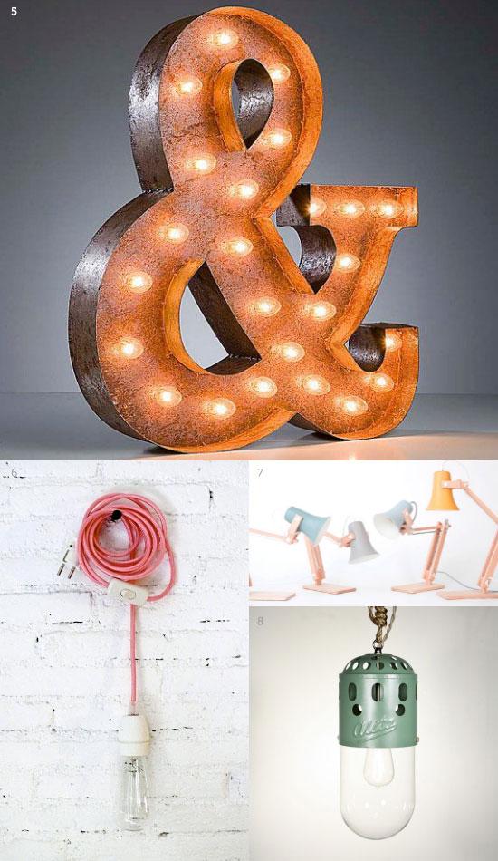 Lamparas Ikea vs lamparas de esty : estilo vintage