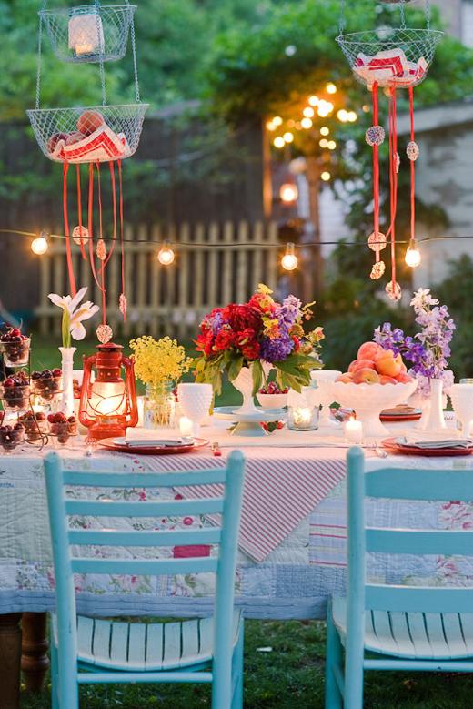 Como decorar una fiesta en el jard n mr and miss colors - Decorar mesas de jardin ...
