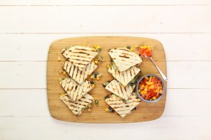 Meat Free Monday: Corn & Bean Quesadillas